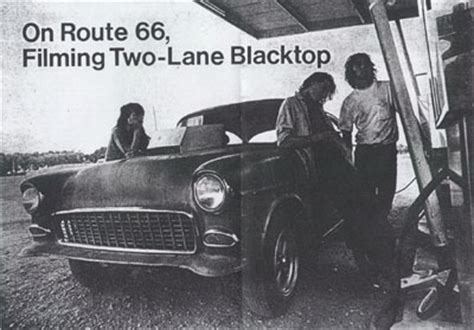 on route 66    filming two lane blacktop