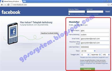 cara membuat web facebook cara membuat akun facebook gpsc system