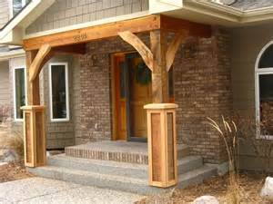 Deck Columns These Rustic Posts Entry Front