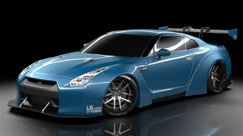 nissan gtr liberty walk nissan gtr liberty walk 3d model