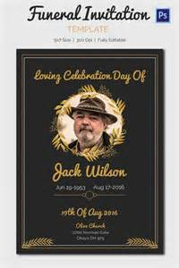 Funeral Invitation Template by 15 Funeral Invitation Templates Free Sle Exle