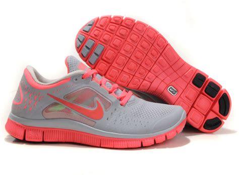 Nike 5 0 Pink Cewek nike free run 3 womens running shoes gray pink 510643 026
