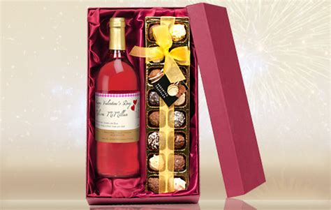 Wine Gift Sets Personalised Rose Wine And Chocolate Gift Set The Great Gift Shop