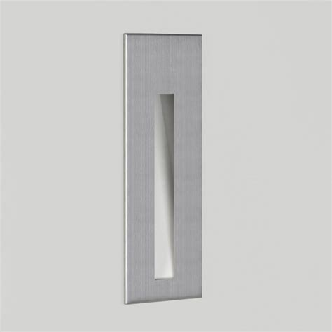 Recessed Wall Lights Astro Lighting Borgo 55 0972 Brushed Stainless Steel