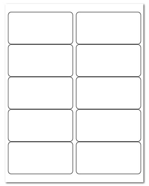2 X 4 Label Template 10 Per Sheet by 4 Quot X 2 Quot Piggyback Laser Label Sheets