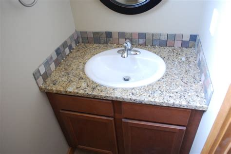 bathroom sink backsplash ideas 30 ideas of glass mosaic tile for bathroom backsplash