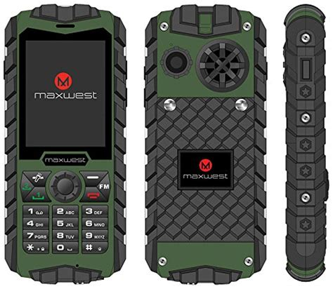 best rugged mobile rugged cell phone unlocked 2g gsm waterproof shockproof maxwest ranger flashlight grade