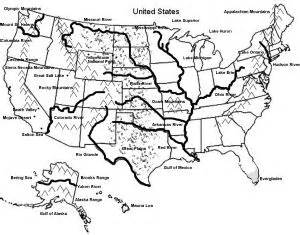 map of the united states with geographical features for geography geography maps