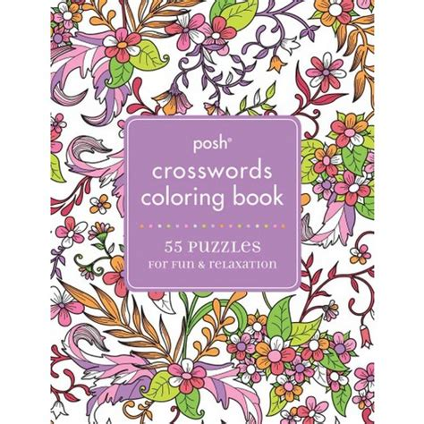 posh coloring book review posh crosswords coloring book 50 puzzles for