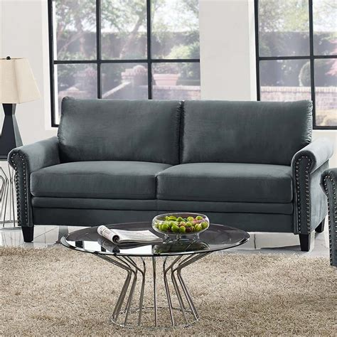 lifestyle solutions fallon sofa in gray aslks3 xm3cc ra