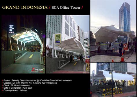bca grand indonesia sigma tensile tent grand indonesia bca office tower