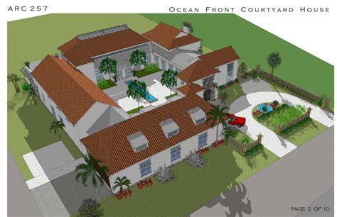 house plans with courtyards courtyard pool ranch