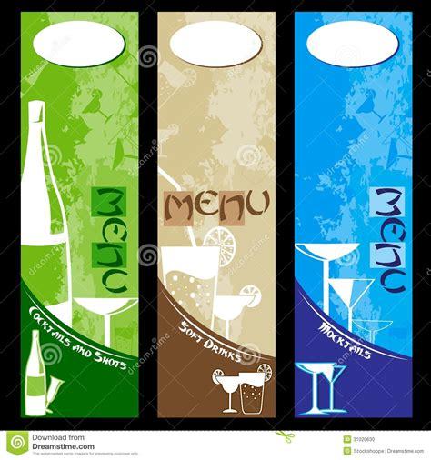 bar menu design stock photo image