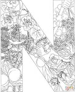 monogram initial n coloring page coloring pages