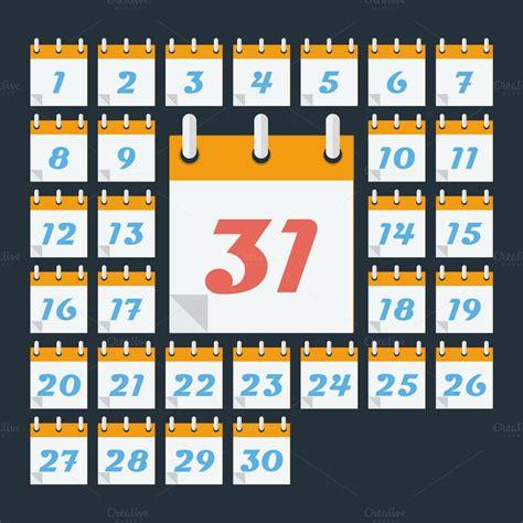 calendar days month icons creative market