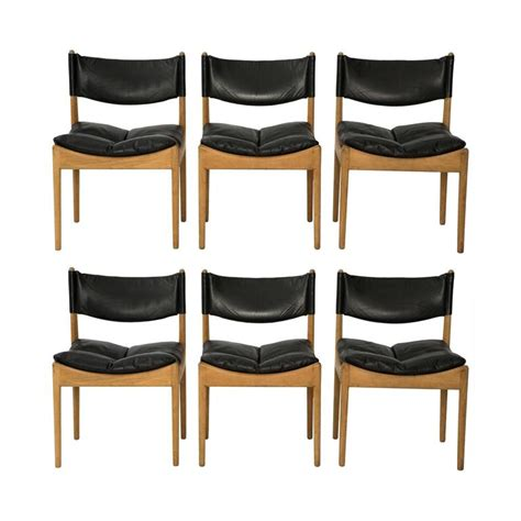 on sale oak and leather modus dining chairs by