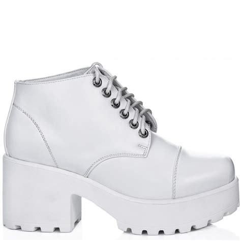 buy marni cleated sole lace up platform ankle boots white