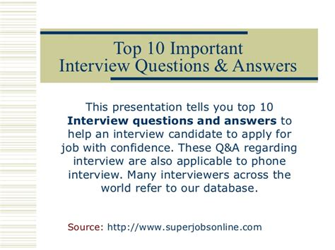 how to answer 10 most common interview questions autos post 10 common interview questions and answers myideasbedroom com