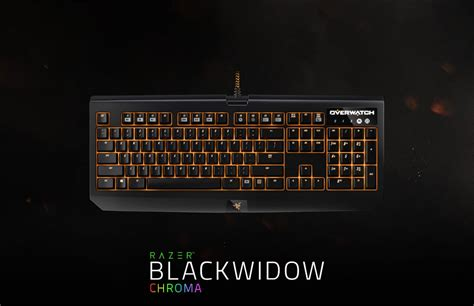 Razer Blackwidow Chroma Overwatch Edition Keyboard Gaming 2 razer overwatch blackwidow chroma mechanical gaming keyboard
