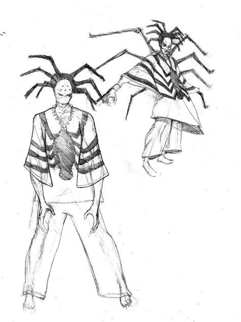 anansi the spider coloring page coloring home