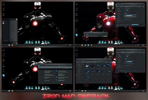 win8 themes video games iron man skinpack for win8 8 1 7 skin pack customize