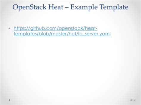 openstack orchestration with heat