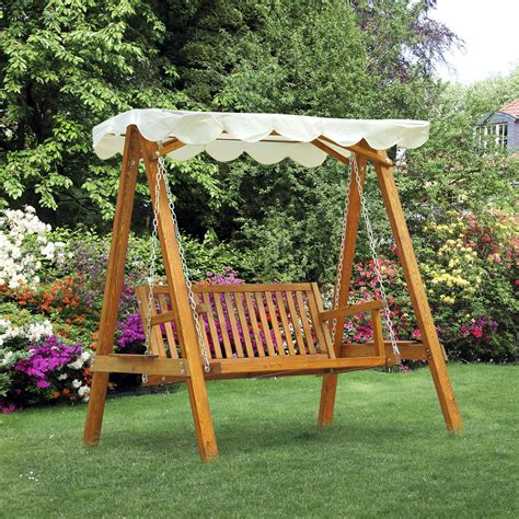 lawn swings wooden outsunny wooden swing chair outdoor patio furniture