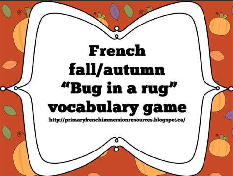 bug in a rug vocabulary quot bug in a rug quot with fall words primary immersion resources