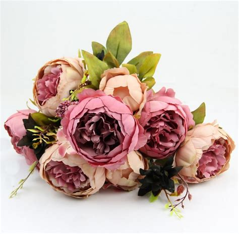 fake flowers wholesale 2 pc lot hight quality silk flower 1 bouquet