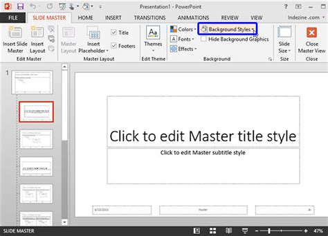 layout button powerpoint custom backgrounds for slide master and layouts in