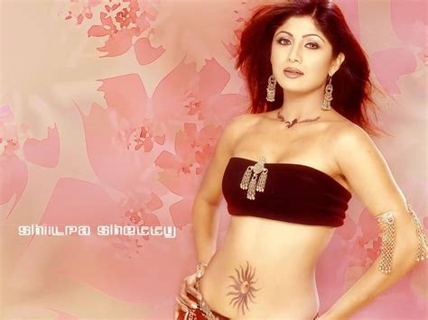 famous shilpa shetty show sun belly button tattoo