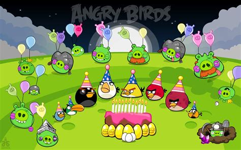 angry birds birthday angry birds wallpaper 628985