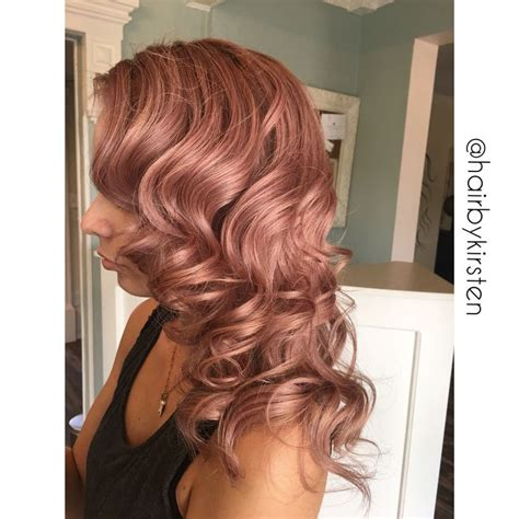 rose gold blonde hair color rose gold hair the hottest trend in hairstyling of rose