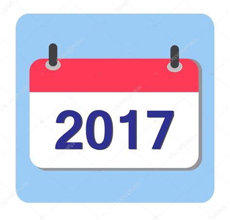 Calendar Icon Vector Flat Vector Calendar Icon 2017 New Year 2017 Stock