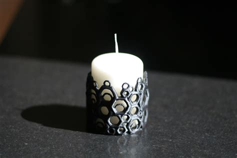 Hexagonal Candle Holder Print 3d Cetak 3d Pla Abs new custom 3d print hexagonal candle holder ak eric