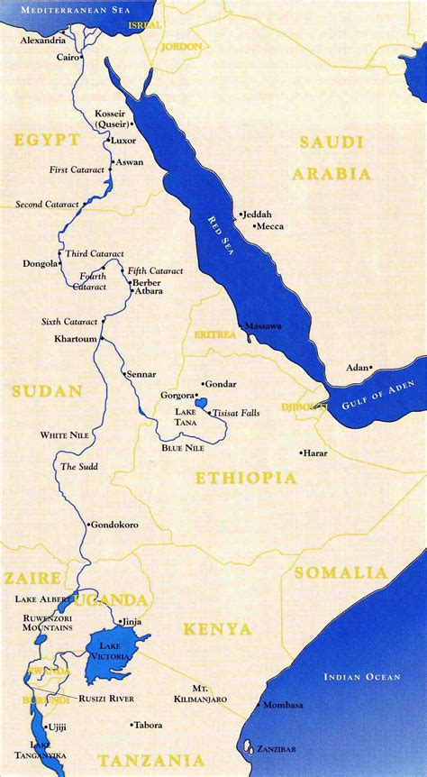 nile river on a africa map into africa the search for the source of the nile angus