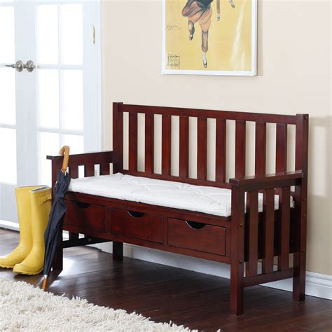indoor storage bench cushion white wooden bench with drawers and storage combined with