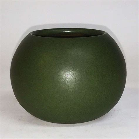 marblehead matte green closed bowl california historical