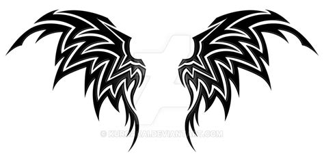 wings tribal by kuroakai on deviantart
