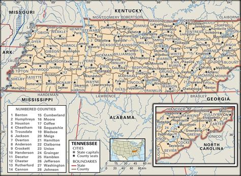 State Of Tn Records Historical Facts Of The State Of Tennessee Counties Guide