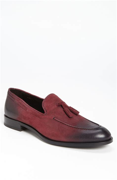 burgundy loafers for bruno magli maggio tassel loafer in purple for