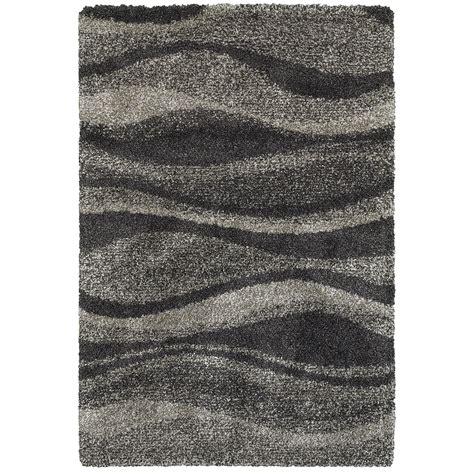 10 x 12 shag rug weavers henderson hen5992e910x1210 9 10 quot x 12 10 quot shag grey charcoal rectangle rug
