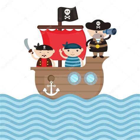 imágenes de un barco pirata ilustraci 243 n de barco pirata vector de stock 124204180