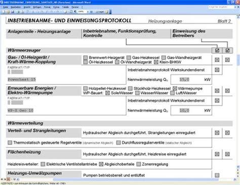 Word Vorlage Checkliste Nur Mit Checkliste Die Heizungsanlage Inbetriebnehmen Sbz Monteur