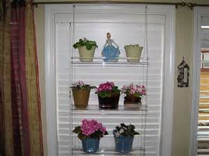 hanging window plant shelves hanging window plant shelves using blinds