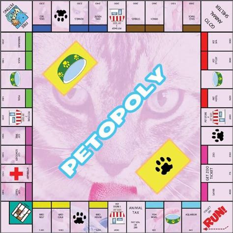 Great Printable Board Games   petopoly game this website is full of great printable