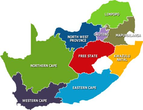 9 provinces south africa map south africa zafaris