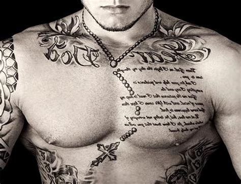 tattoo designs for men words chest designs best design