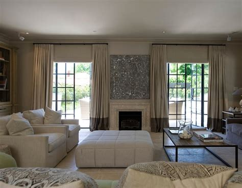 curtains beige walls two tone curtains transitional living room marco