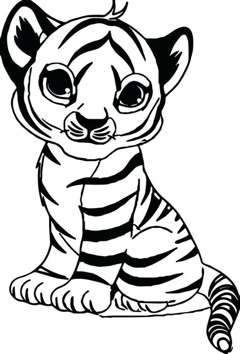 pictures to color coloring pages of tigers tiger color sheet with baby